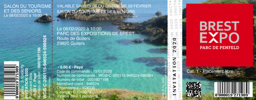 ©INVITATION Salon Tourisme Brest 2020