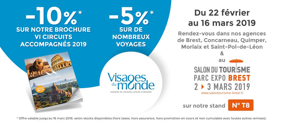 Salon du Tourisme de Brest : Samedi 02 et Dimanche 03 Mars 2019